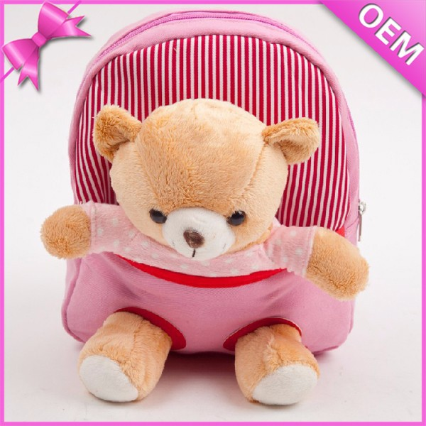 Soft Plush Bear Removable Plush Animal Backpacks, Kids Plush Backpacks, Teddy Bear Plush Backpacks
