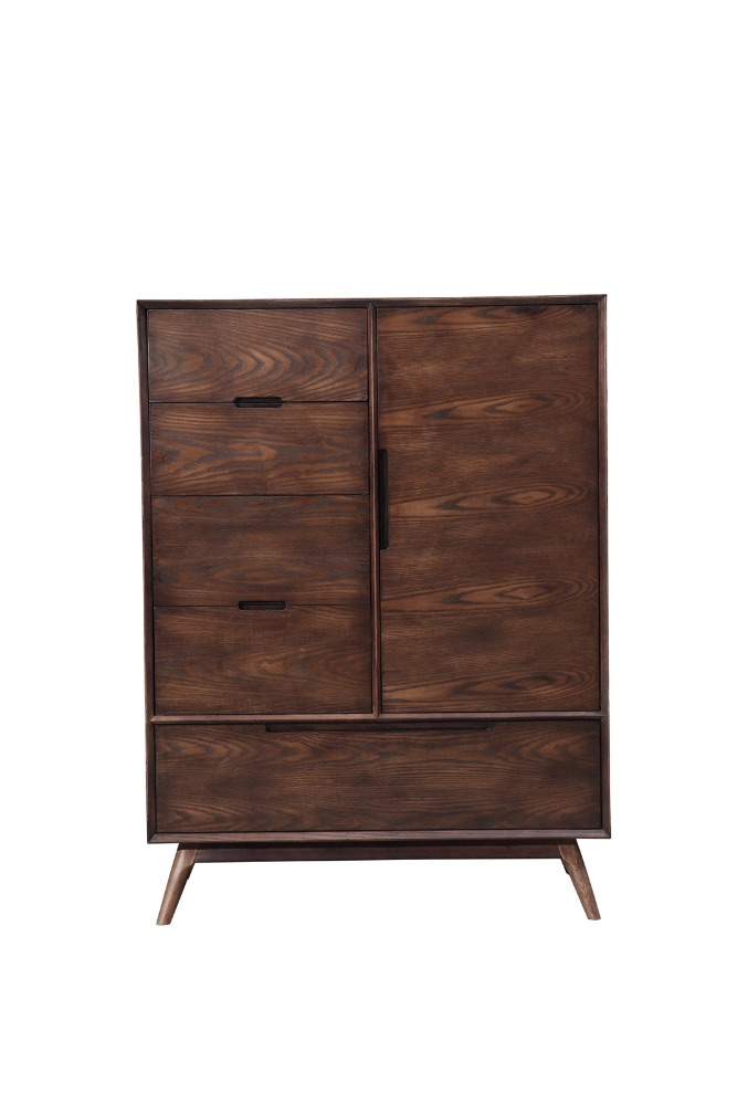 High Quality North European Big Space Walnut Wooden Chest Of Drawer For Hourse Used