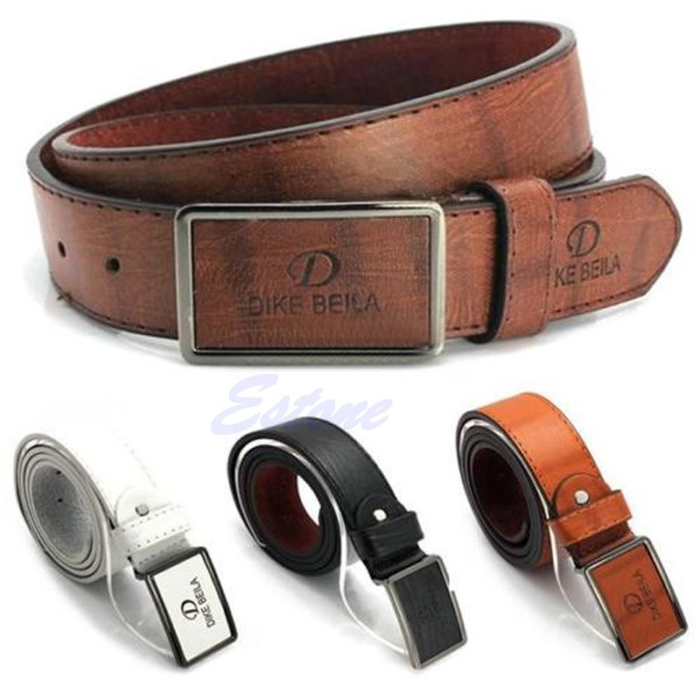 Free Shipping Men s Waistband Casual Luxury Leather Automatic Buckle Belt Waist Strap Belts