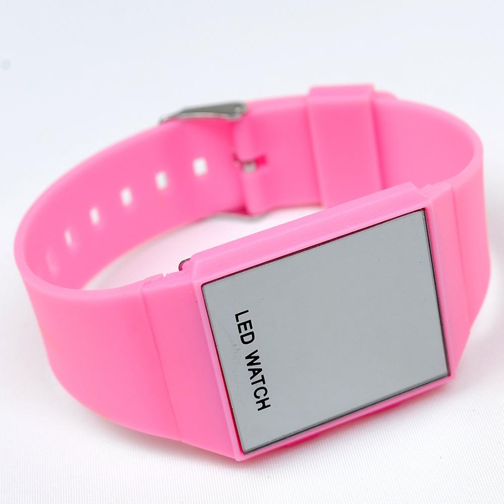 10 цветов из светодиодов часы силикон лента спорт цифровой часы женщины мужчины дети свободного покроя наручные часы Relogio часы