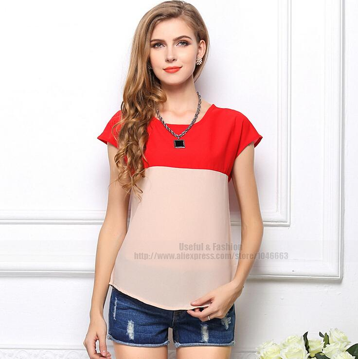 2015 summer women blouses Chiffon Shirts blusas women clothing Casual Shirts camisa blusa feminina o-neck print women Tops