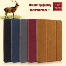 For iPad Pro 9.7″ Smart Case 100% Original New Brand Ultra-thin Flip PU Leather Case For iPad 9.7 With Sleep/Wake up 2016 Newest