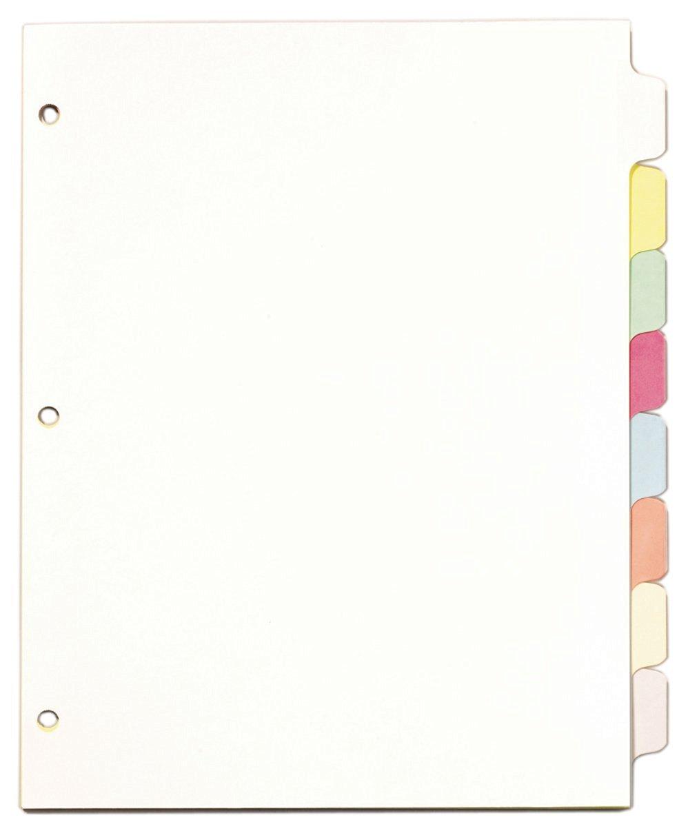 TOPS Cardinal Write 'n Erase Tab Dividers, 8-Tab, Multi-Colored, (60808)