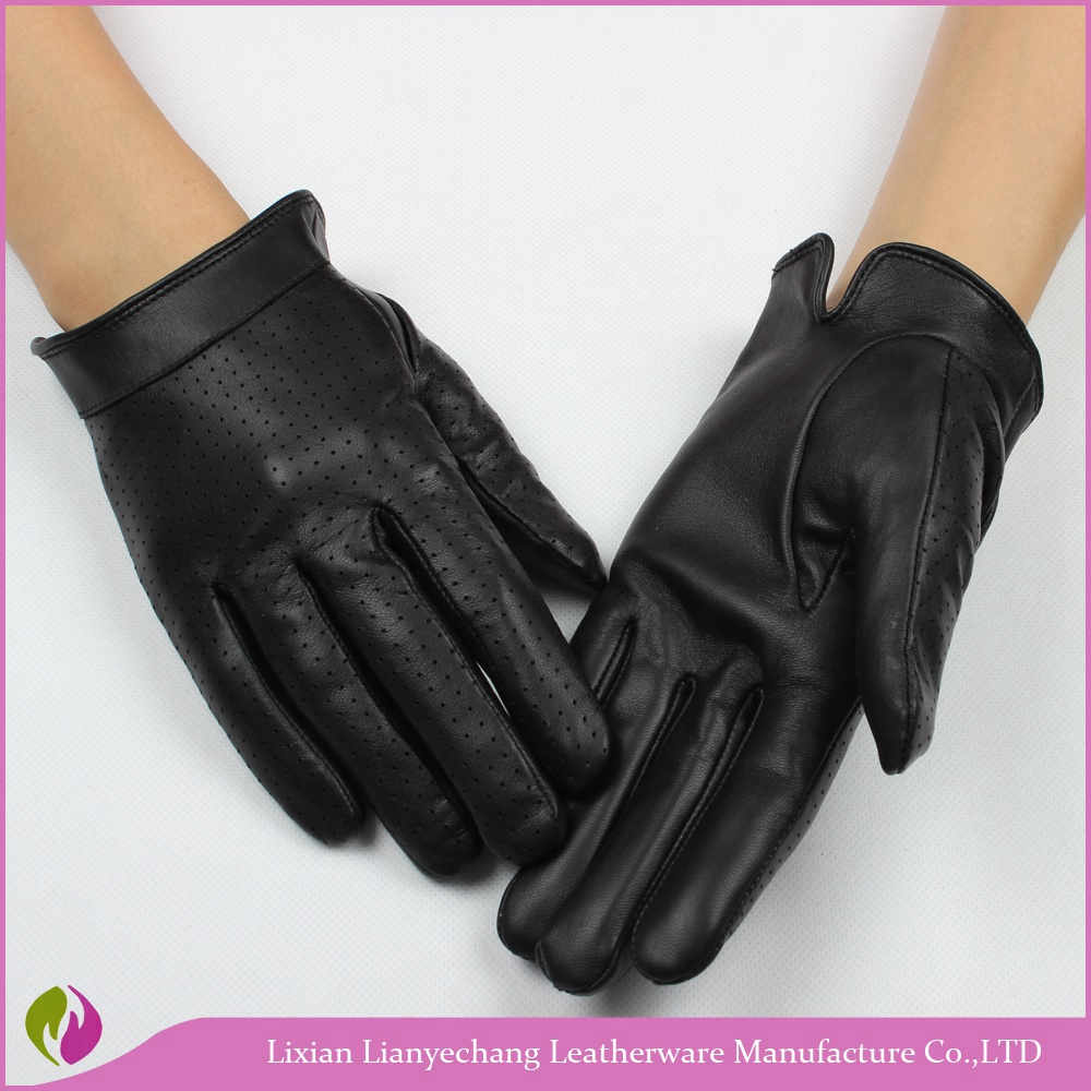 New Customized Leather Driving Gloves Black Personal Motorcycle ...