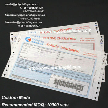 Personalized Courier Consignment Note Printing Service - Buy