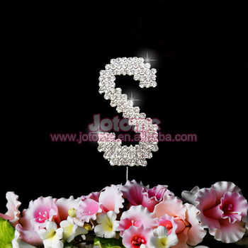 metal rhinestone letter s cake toppers for birthday celebrationwedding anniversary