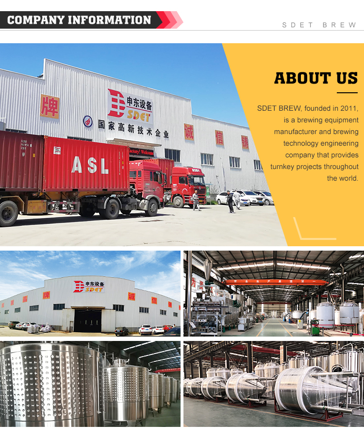 beer alcohol processing machine with 3500KG-4000KG Weight beer brewing equipment