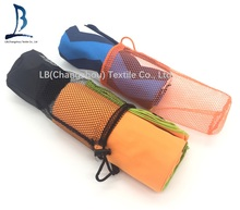 Professional microfiber suede towel beach towel sports towel with mesh bag