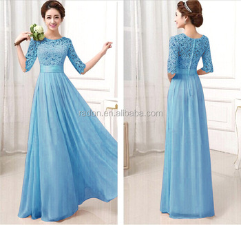Women Embroidered Maxi Cocktail Evening Prom Western Gown Party