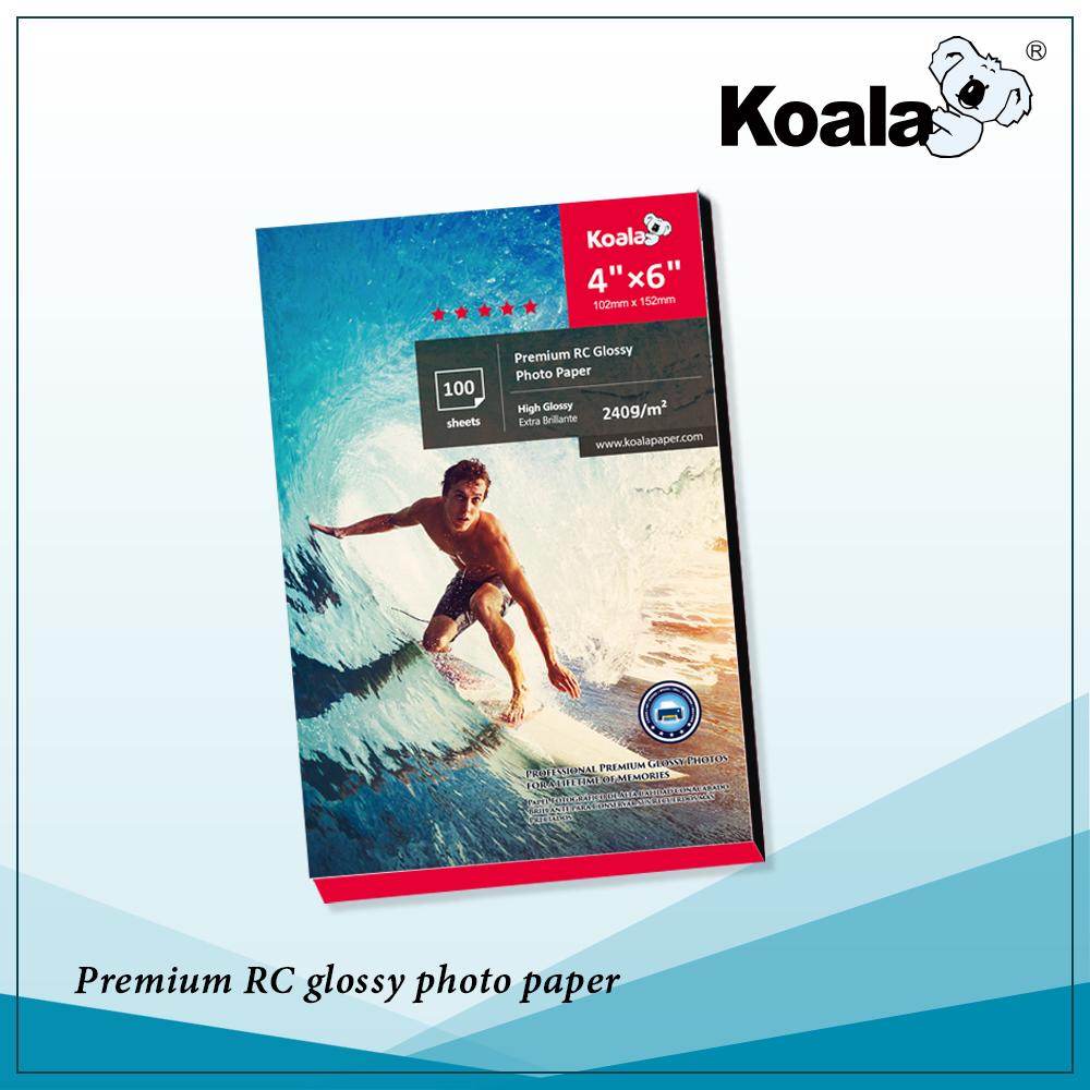 KOALA Premium 240g Jet D'encre papier photo Brillant 4R * 100 Feuilles