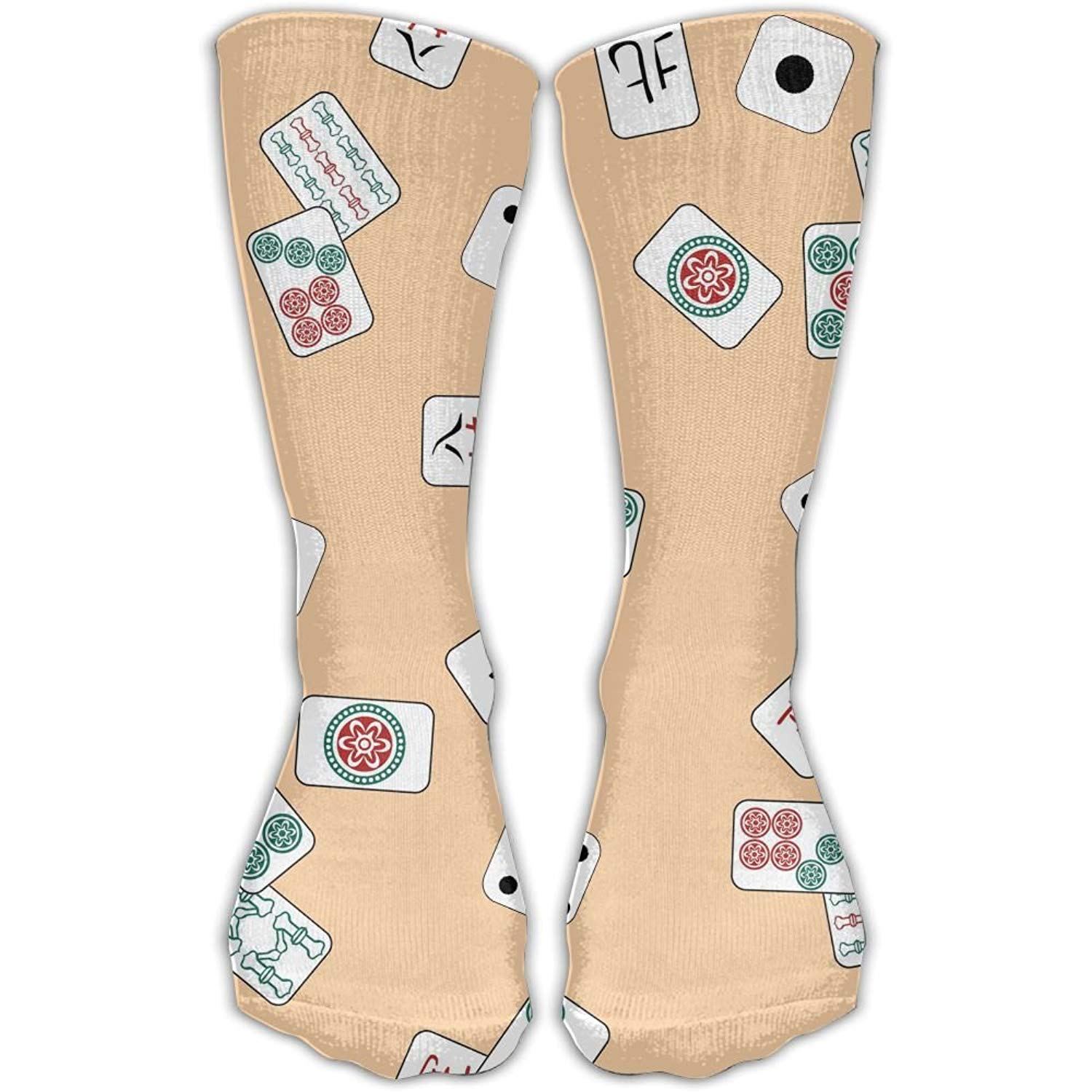 791c77722 Get Quotations · XYMNZGS Mahjong Fun Womens Socks Mens Dress Crew Socks  Softball Women's Socks