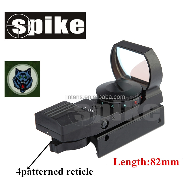 Spike HD101 New Holographic Scope with 4 Type Reticles, Reflex Red Dot Sight for Hunting Rifle, Anodized black