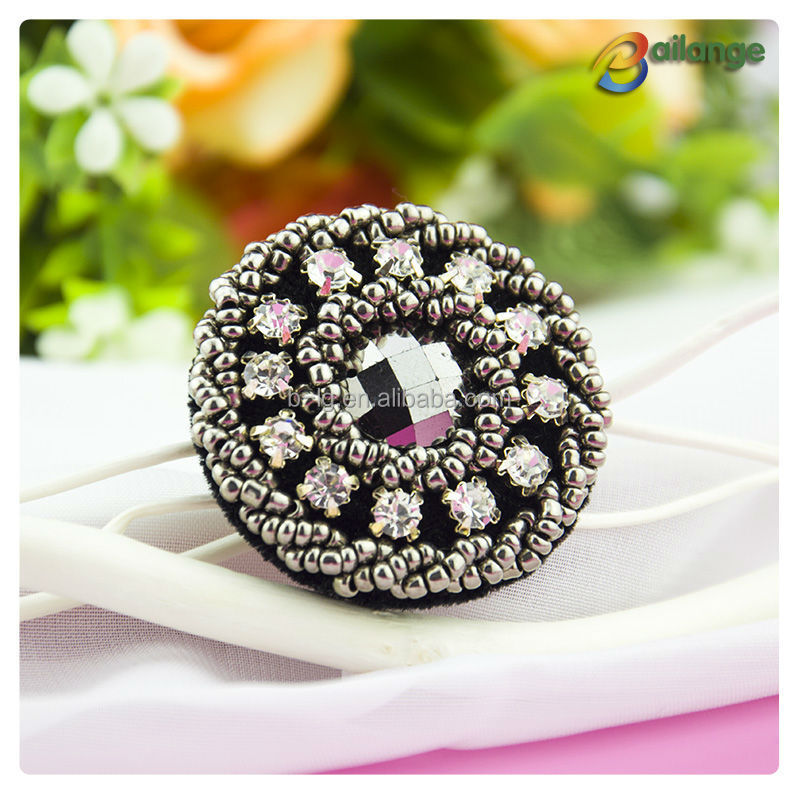 Wholesale High Quality Fashion Rhinestone Crystal Designer Coat Shirt  Clothing Buttons Beads Button Designer Button For Clothing - Buy Designer