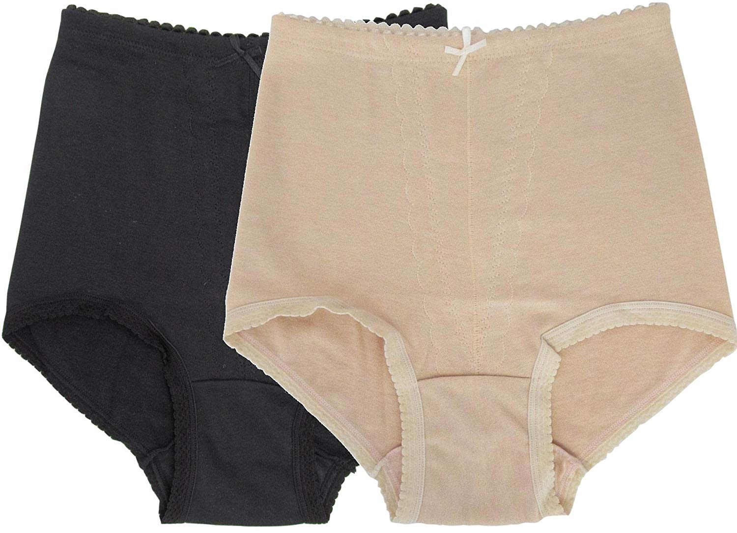Women's Plus Size 1-Pc/Pk or 2-Pc/Pk High Waist Cotton Panty Brief