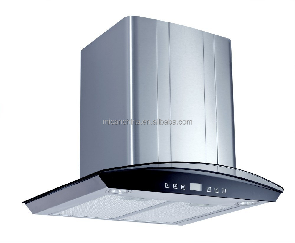 60cm Arc-shaped Glass Kitchen Range Hood Touch switch and Remote control / China supplier
