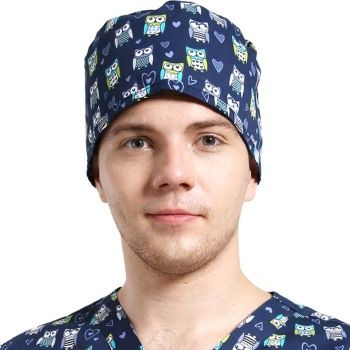 Fashion Wholesale Women Men Polyester Cotton Scrub Cap