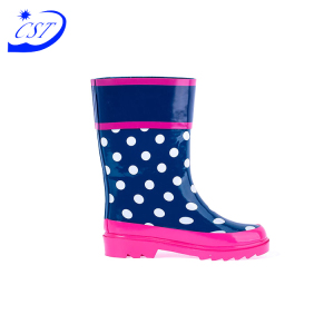 2019 New Design Custom Original Rubber Cowboy Kids' With Solid Color Wellington Children's Rain Boots