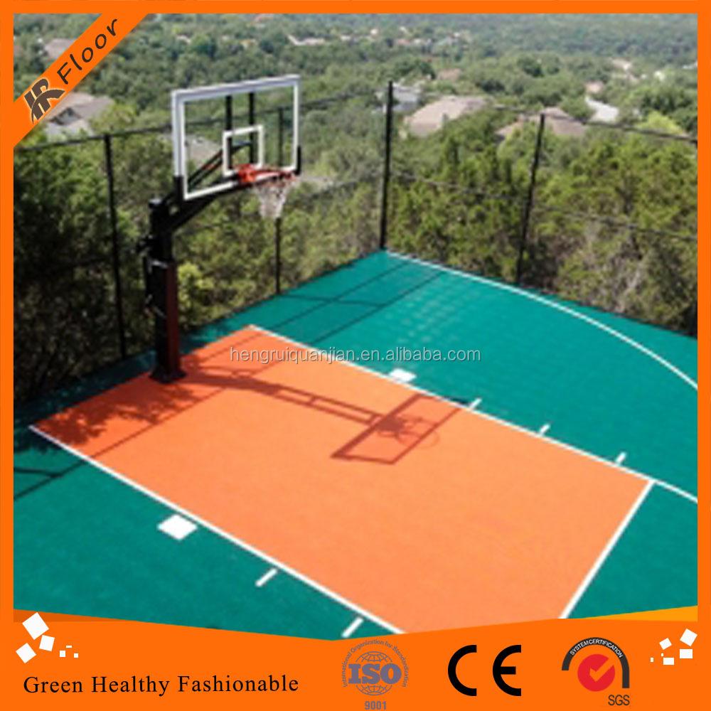 Portable Basketball Floor : Outdoor portable basketball flooring gurus floor