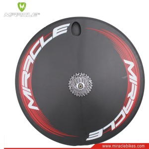 700c clincher disc wheelset carbon rear triathlon wheels for TT/Road/Track bike Wholesale carbon fiber disc wheel