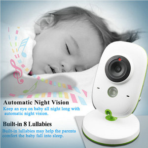Built-in 8 lullabies 2inch TFT LCD screen Display Wireless Video Baby Monitor With Digital Camera night vision