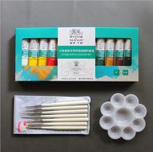 NEW Nail Art Polish Set 12 Colors Fine Acrylic Paint Set+Nail Painting Pen+Palette Tools
