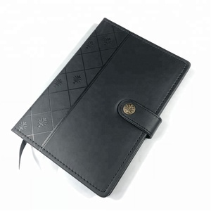 Promotion business hardcover custom genuine vintage leather journal note book