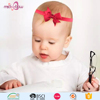 Good quality fancy flower elastic baby hair headband for infants and toddlers