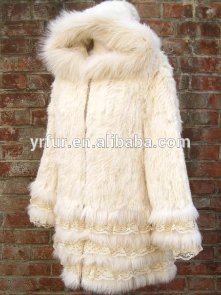 Abrigo de piel de mapache