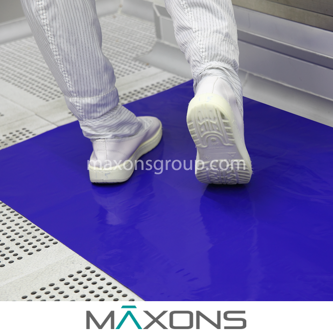 "18 x 45"" Disposable Cleanroom Sticky / Tacky Floor Mats"
