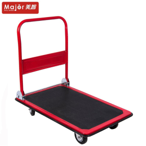 heavy duty hand pull plain platform truck trolley PH300