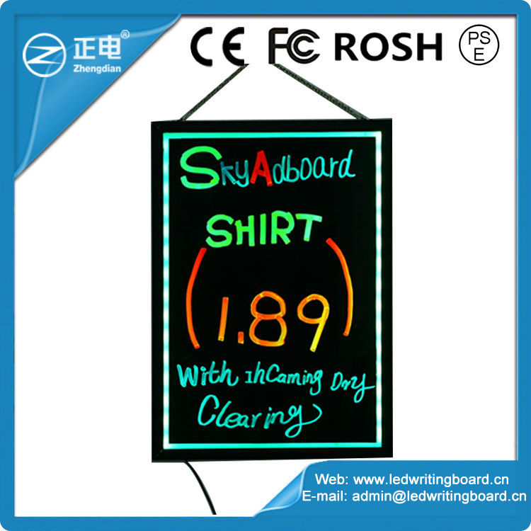 Hot Sell Led Alluminium A Frame Portable Writing Board Sign - Buy ...