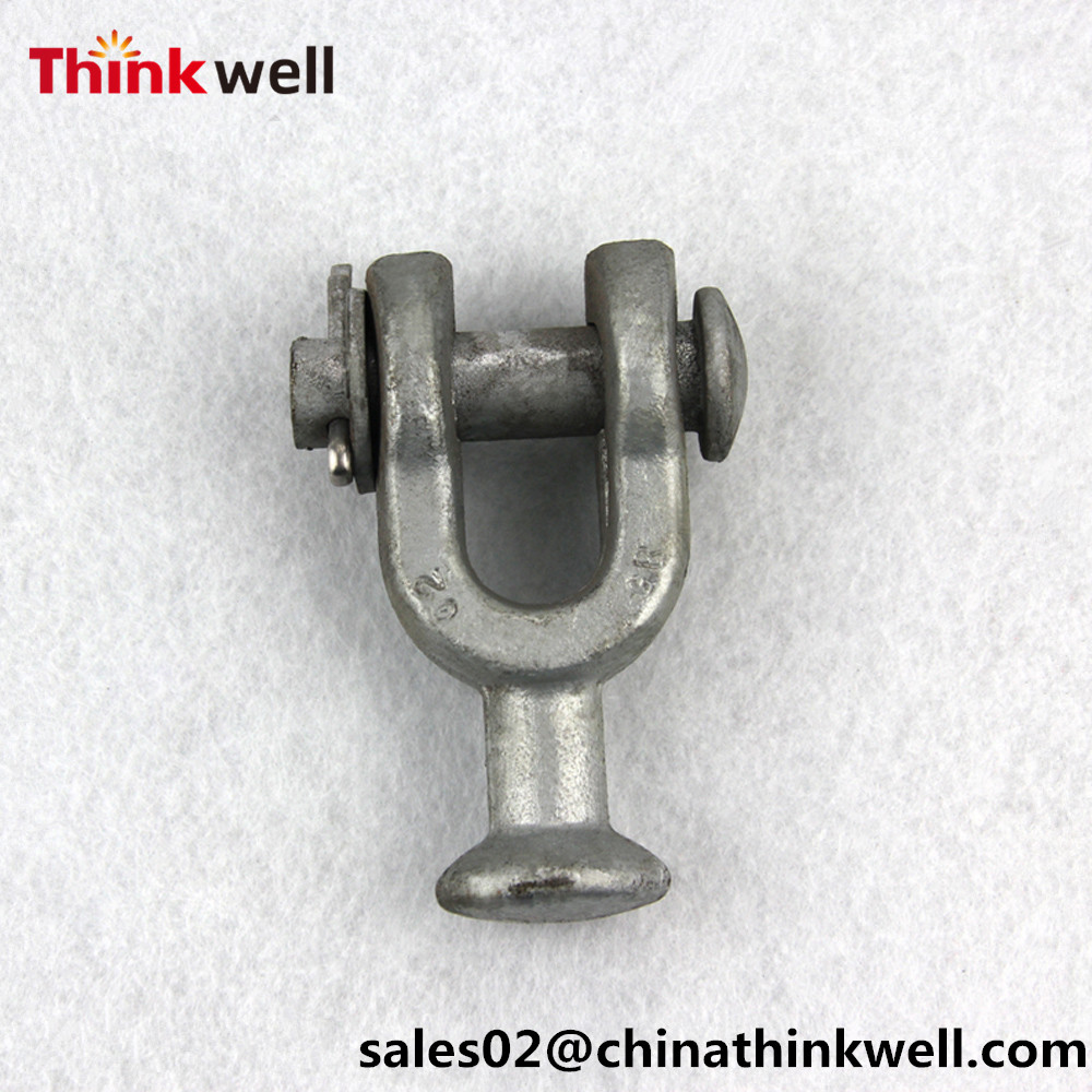 Forged Galvanized Electric Power Fitting Y Type Ball Clevis