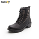 SUNWAY Military Army Safety Durable Outer Zipper Decoration Ladies Women Ankle Boots Shoes