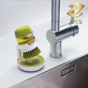 Multifunctional Household Kitchen Liquid Soap Dispenser Brush