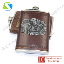 high quality jagermeister stainless steel hip flask /customized glass lined hip flask