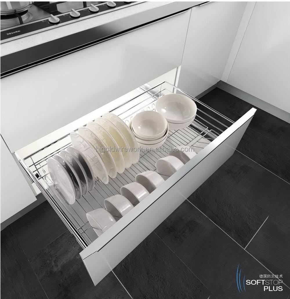 Simple Style Kitchen Slide Out Storage Wire Basket/kitchen Storage ...