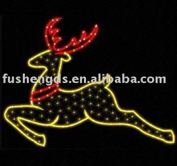 christmas reindeer led motif light
