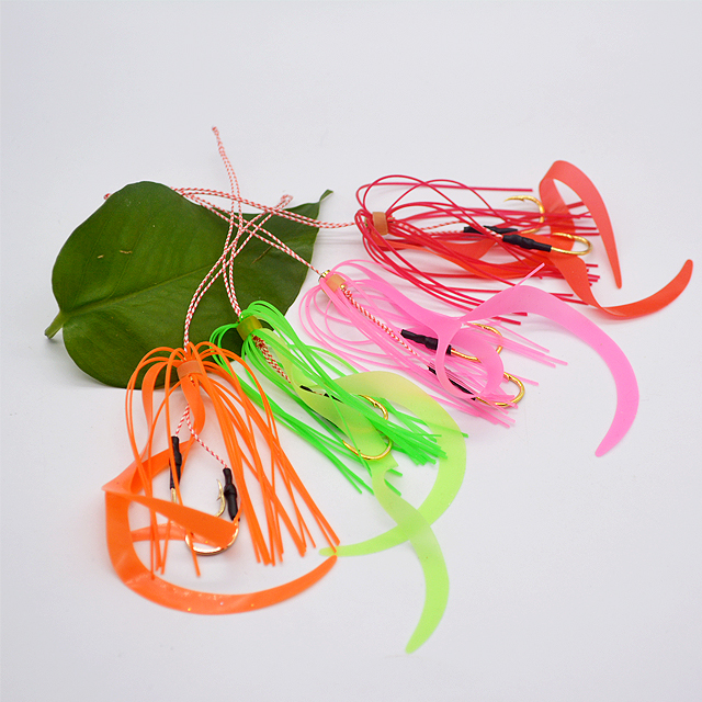 Rubber jigs curly skirt silicone lure fishing hook, Picture