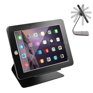 360 Degree Rotating L Shape Anti-Theft Security Tablet Kiosk POS Stand Holder Enclosure with Lock and Key for ipad
