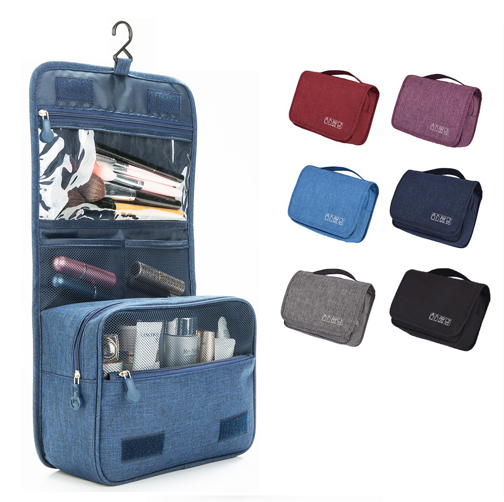454e215c99 Custom cosmetic bag makeup folding toiletry travel polyester for men  outdoor pouch zipper organizer kits hanging make up bag