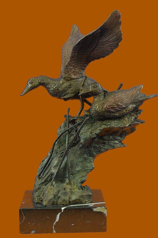 ...Handmade...European Bronze Sculpture American Artist Fisher Original Duck Decks Marshland (XN-2414-UK) Bronze Sculpture Statues Figurine Nude Office & Home Décor Collectibles Sale Deal Gifts
