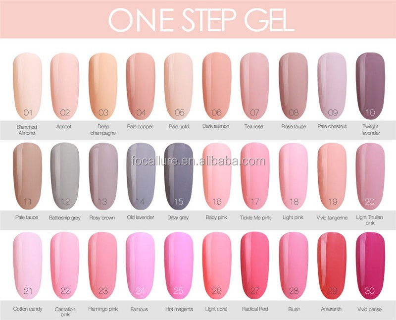 Focallure New Colors One Step Gel Uv Nail Polish Nail Art Manicure ...