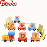 Numbers wholesale educational train kids wooden toy vehicle