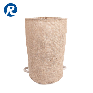 Ruiding 2017 Hot Sale Custom Eco-friendly Cylinder Jute Drawstring Bag Backpack