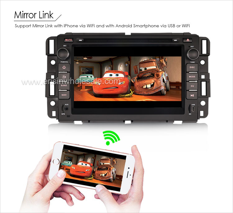 "Erisin ES5428G Quad Core 7"" Android 6.0 Car Radio Audio DVD Player Navigation System DAB+ 3G WIFI for Chevrolet Silverado"