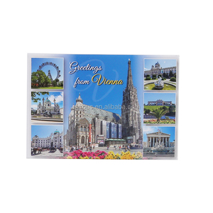 Greetings from Vienna Souvenir Cheap Embossed Magnet