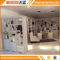 Wall mounted modular wardrobe with book shelf China factory