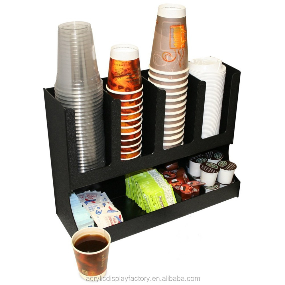 Paper Cup Lid Holder Coffee Cup Dispenser Acrylic Organizer