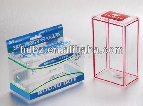 Plegable y bonita caja de zapatos de pl stico embalaje for Cajas de plastico plegables
