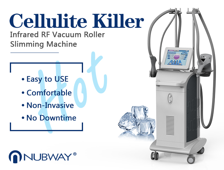 Health beauty velashape medical equipments RF vacuum roller cellulite machine for whole body
